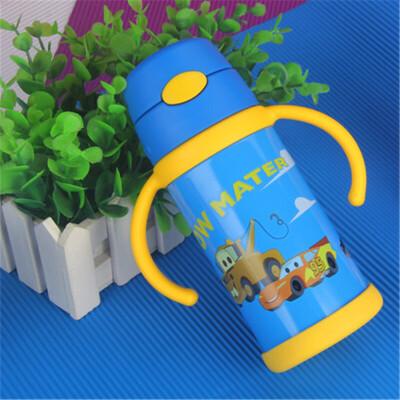 哈尔斯 DSX-330-10 吸管杯宝宝保温杯吸管带手柄儿童水杯小孩水壶婴儿学饮杯