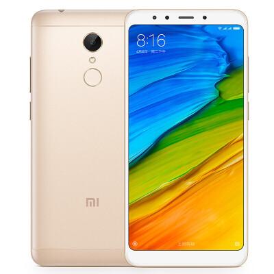 小米 红米手机5 2G+16GB 标配全网通版 金色  移动联通电信4G手机 双卡双待千元全面屏 / 超长续航 / 前置柔光自拍