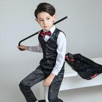 儿童演出服钢琴表演男孩童装春 男童西装套装