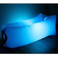 户外便携充气沙发 懒人空气床垫 野外沙滩水上可折叠便携式休闲床 (带炫耀灯)