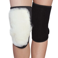 保暖护膝羊毛加厚男女老人防寒骑行护具 防风皮毛一体083奥力克斯