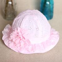 婴儿渔夫帽夏季薄款公主6个月女孩遮阳宝宝太阳帽