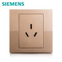 西门子开关开关面板西门子悦动系列香槟金色16A三孔空调电源插座