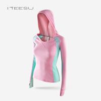 秋冬瑜伽服女健身运动长袖上衣连帽卫衣弹力跑步速干紧身外套