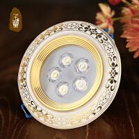 复古射灯led陶瓷走廊灯3W过道灯客厅背景墙欧式天花灯具筒灯
