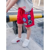 男童短裤夏多贴标五分裤夏季儿童运动裤宝宝裤子2018新款小童短裤