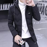 冬季男加厚 外套羽绒服男 中长款修身学生衣服冬装潮男装 黑 收藏宝贝 优先发货
