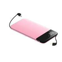 充电宝20000毫安苹果小米通用X带线便携80000m大容量电女 绅士黑 智能 显屏 双线