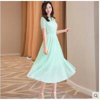 新款波西米亚沙滩裙气质纯色雪纺长裙海边度假裙连衣裙潮可礼品卡支付