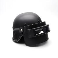 吃鸡周边绝地三级头盔三级头帽子键帽真人防弹道具cos装备 黑色(可开合)
