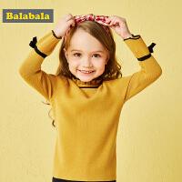 【10.18巴拉巴拉超品 4折价:47.6】巴拉巴拉童装女童毛衣套头秋装2018新款小童宝宝针织衫儿童毛衫女