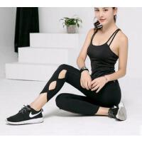 瑜伽服套装户外健身女两件套专业带胸垫运动健身跑步速干服