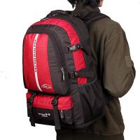七夕礼物新款双肩包男女韩版户外旅行背包多功能大容量登山包50L30L电脑包 红色