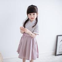 汉服女童夏装改良中国风童装国学服装古代儿童古装连衣裙女夏襦裙