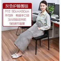 电热护膝毯暖手电暖垫办公室暖身毯加热毯子取暖毛毯暖脚保暖盖腿 灰色大围膝口袋款