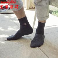 茉蒂菲莉 中筒袜 男士新款秋冬商务纯色棉袜男式英伦休闲时尚袜子(5双装)