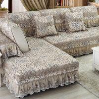 欧式沙发垫布艺坐垫四季滑沙发罩沙发巾套包通用组合三人座垫J