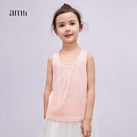 AMII女中大儿童背心2018夏新款韩版时尚宽松马甲洋气潮内衣公主