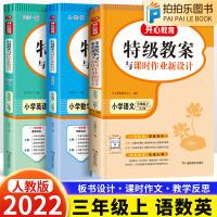 特级教案小学三年级上册语文数学英语人教版教师教学备课用书
