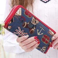 钱包女长款欧美超薄新款韩版个性零钱包百搭手机包钱夹潮