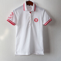高尔夫女装短袖上衣POLO衫运动修身速干原单修身 白色
