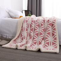 家纺保暖单双人车用毯旅行毛毯羊羔绒毯子珊瑚绒双层毯沙发盖毯绒