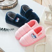 棉拖鞋女厚底冬季韩版可爱休闲时尚居家室内保暖包跟软底情侣棉鞋