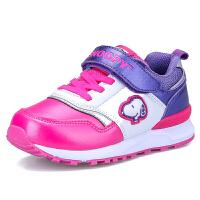 史努比童鞋秋季新款男童运动鞋女童休闲鞋儿童跑步鞋