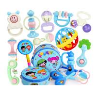 婴儿玩具0-1岁牙胶手摇铃男女宝宝新生幼儿0-3-6-12个月