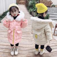 女童中长款羽绒过膝洋气棉袄冬季公主棉衣