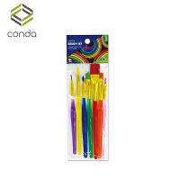 儿童益智绘画玩具文具7支套塑料杆画笔套装