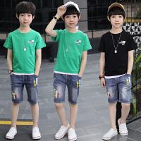男童夏装新款套装夏季男孩帅气中大童衣服韩版潮衣
