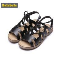 巴拉巴拉童鞋女童单鞋中大童夏装2018新款时尚凉鞋儿童罗马鞋子女