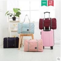 简单大方行李箱挂包大容量旅行户外折叠包便携收纳袋手提袋女式行李袋