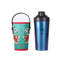 【限时秒杀】杯具熊(BEDDYBEAR)能量保温杯碱性矿物质不锈钢水壶健康杯泡茶杯700ml 蓝色虎