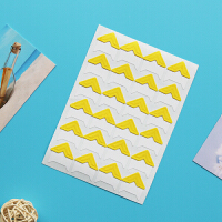手工diy相册配件工具粘贴式相册固定照片创意墙面相片角贴24枚 抖音 黄色 纯黄色24枚