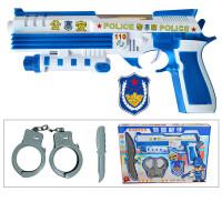 儿童声光音乐电动投影动物图案玩具枪耐摔1-2-3岁小男孩宝宝 特警抢手礼盒款 官方标配