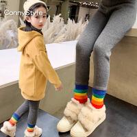 女童冬装加绒打底裤外穿儿童裤子大童保暖裤