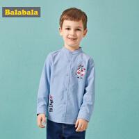 巴拉巴拉儿童衬衫宝宝秋装新款韩版男童衬衣小童休闲长袖上衣