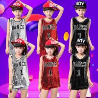儿童演出服爵士舞街舞套装嘻哈啦啦队啦啦操男孩女孩