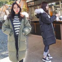 2018春装新款大码女装秋冬季中长款修身棉衣外套女07