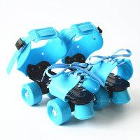 大码儿童双排轮滑鞋 可调轮滑鞋 双排溜冰鞋四轮旱冰鞋代步工具