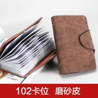 卡包名片夹男士商务名片包册女式多卡位卡夹大容量*片包长款