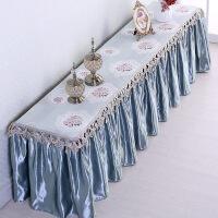 欧式茶几电视柜桌布布艺长方形客厅美甲台布梳妆台盖布尘罩T