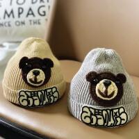 儿童帽子婴儿冬天宝宝毛线帽时尚秋冬季潮