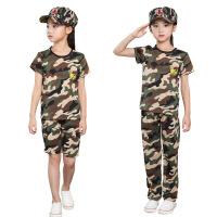 儿童迷彩服套装中小学生户外军训服长袖夏令营男女童集训服邮