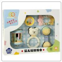 超值谷雨婴儿摇铃组合5件套装带牙胶0-1岁宝宝玩具