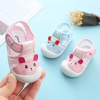 女宝宝凉鞋夏季0-1-3岁包头软底防滑学步小童婴儿男幼儿凉鞋