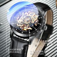时尚新款手表男机械表全自动镂空新概念潮流夜光虫洞男式男士腕表