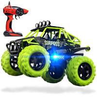 遥控越野车 摇控车玩具攀爬越野车悍马 电遥控汽车模 越野车绿
